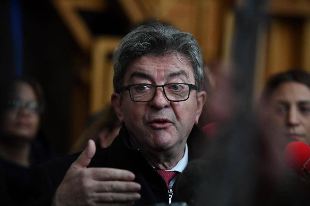 Le chef de file de la France insoumise (LFI) Jean-Luc Melenchon, le 9 décembre 2019 à Bobigny