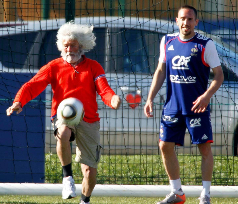 Avec les Bleus en 2010.