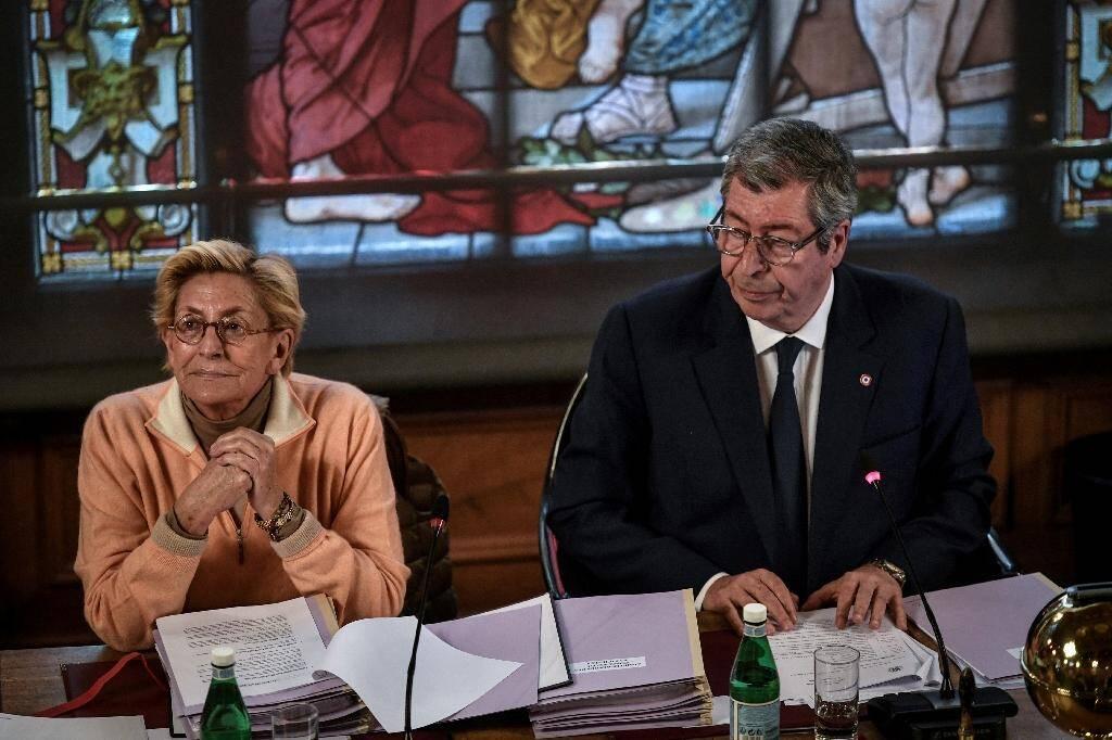Patrick et Isabelle Balkany, lors du conseil municipal de  Levallois-Perret, le 15 avril 2019.