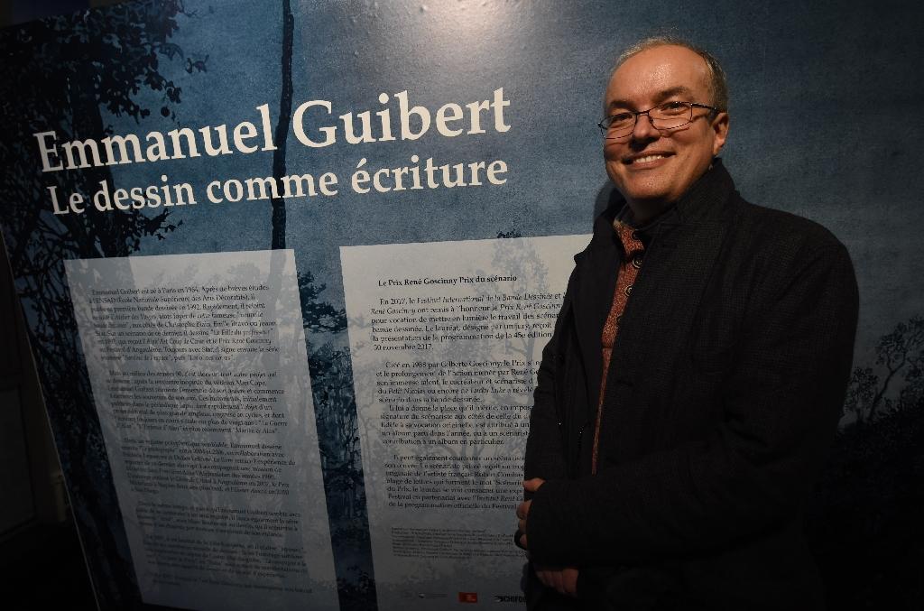 Le dessinateur et scénariste de BD Emmanuel Guibert, le 25 janvier 2018 au Festival de BD d'Angoulême