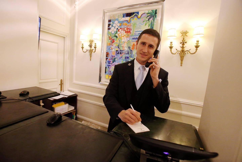 """Olivier Delmasse, """"Clé d'or"""" de l'Hôtel Hermitage."""