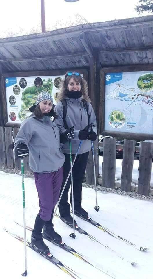 Malgré la distance, Aurélie et Célia ont réussi à faire des courses et entraînements ensemble.(DR)