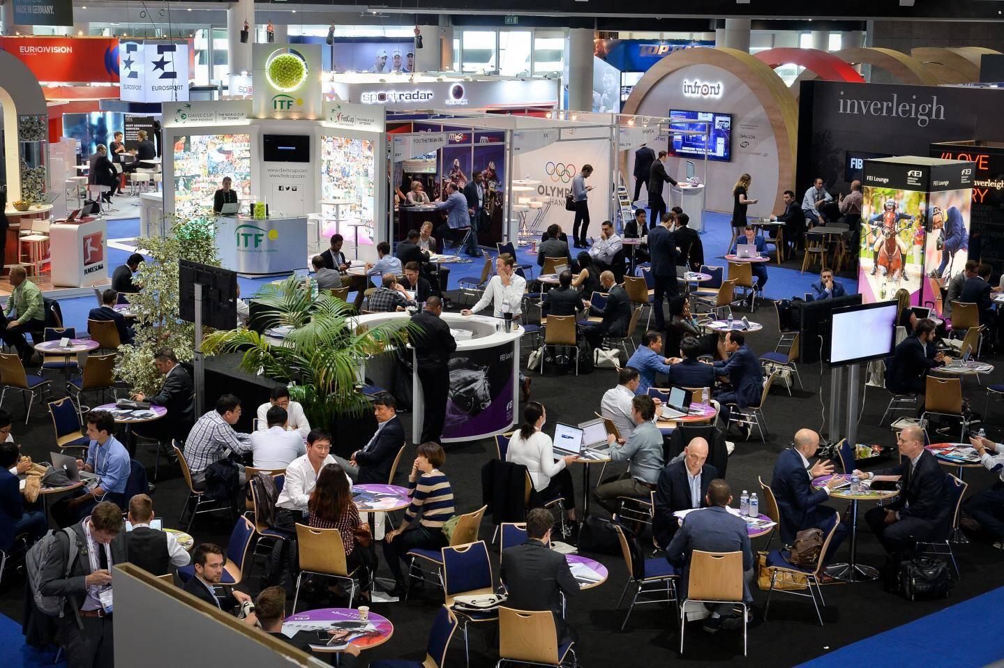 Les événements professionnels, comme ici le Sportel, constituent l'essentiel de l'activité du Grimaldi Forum.