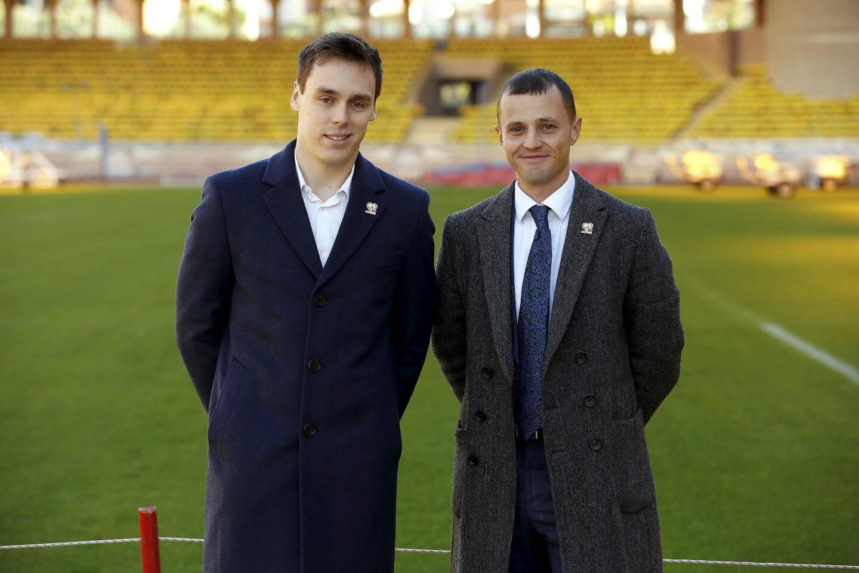 Louis Ducruet et Romain Goiran sont co-organisateurs de ce match caritatif sur la pelouse du stade Louis-II