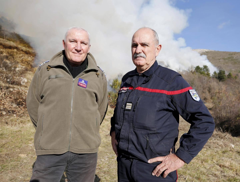 Michel Hauuy de Force 06, et le lieutenant-colonel Alain Degioanni des sapeurs-pompiers.