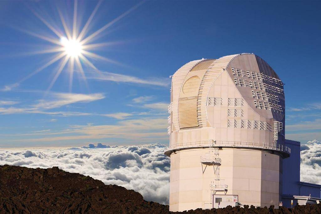Photo non datée du nouveau télescope solaire Daniel K. Inouye, sur l'île hawaïenne de Maui, à Hawaii