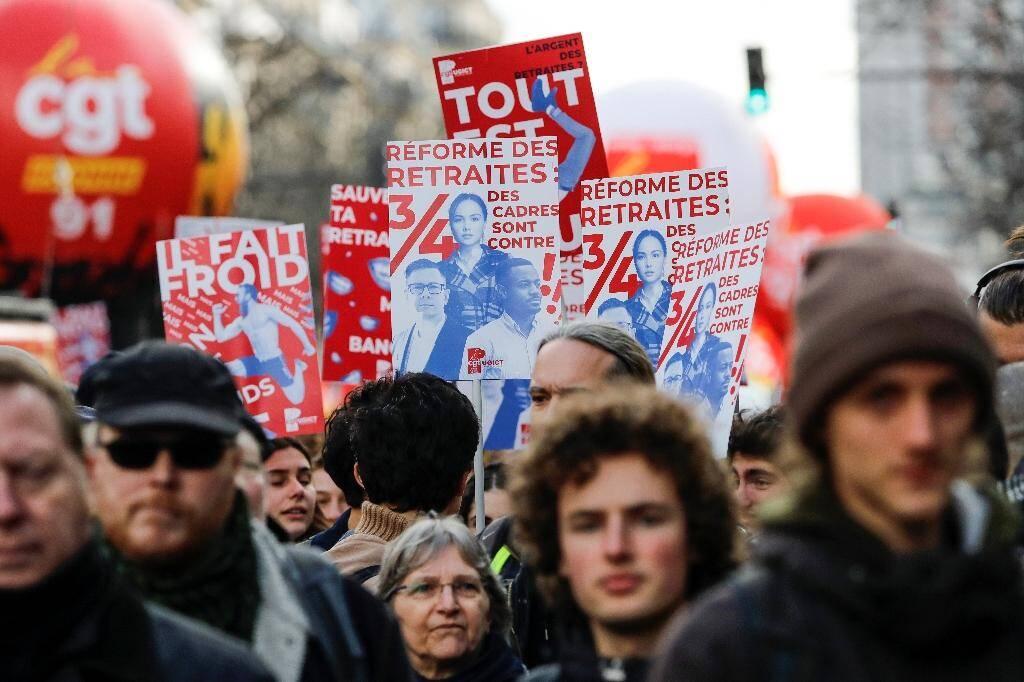 Manifestation contre la réforme des retraites, le 29 janvier 2020 à Paris