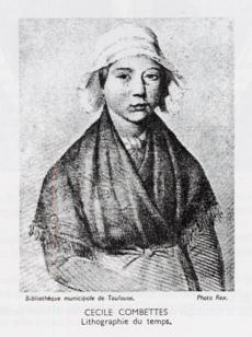 Cécile Combette, qui fut assassinée à l'âge de 14 ans.