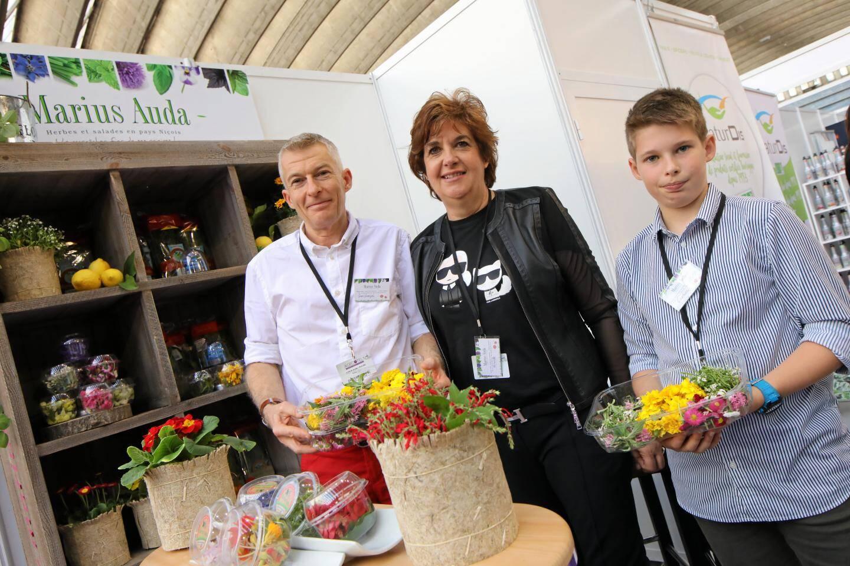 Marius Auda cultive vingt-cinq variétés de fleurs.