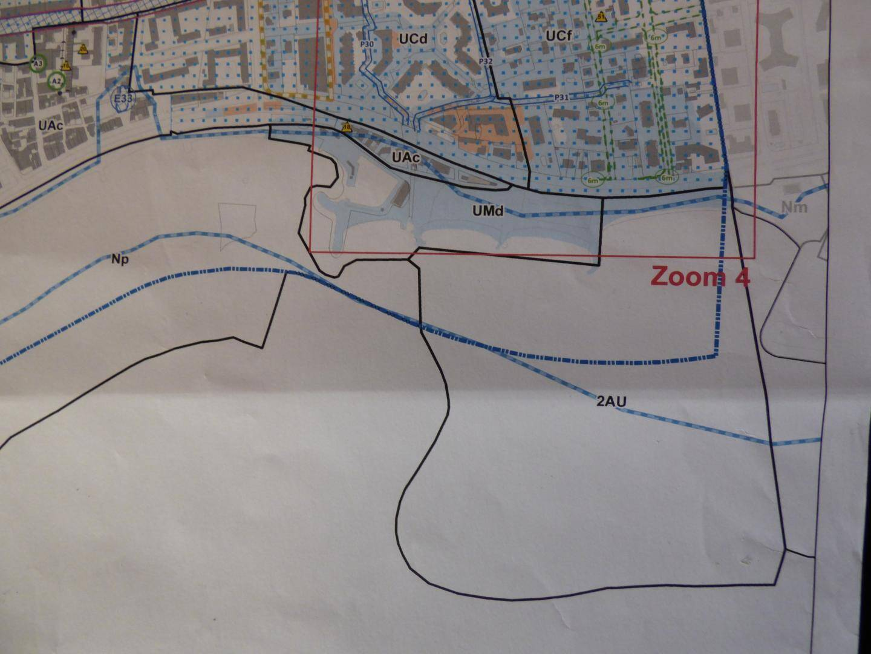 Les deux zones UMd et 2AU liées au projet de port sur le zonage du PLUm.