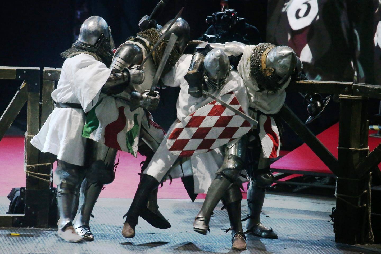 L'équipe de Monaco, les Grimaldi Milites, l'a emporté face au voisin italien, Feltrio lors d'un combat d'exhibition.