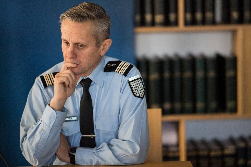 Le lieutenant Colonel Philippe Phavorin de Vannes qui enquête sur le cas Le Scouarnec participe à une conférence de presse à Lorient, le 20 décembre 2019