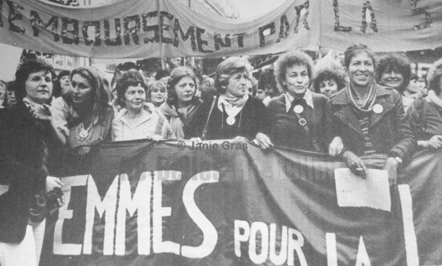 Josette Boisgibault, 2e en partant de la gauche, est une féministe de la première heure.