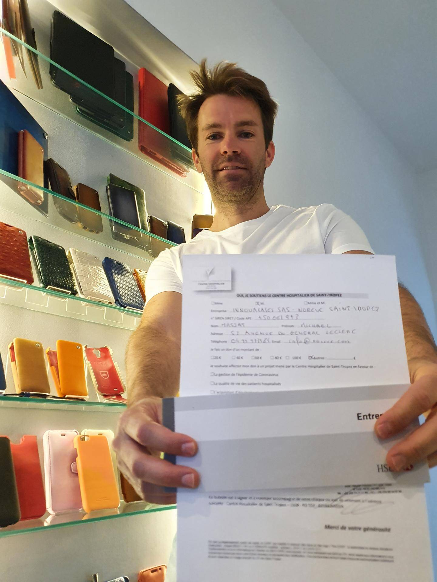 Michaël Massat, dirigeant de la société Noreve, a inscrit sur sa promesse de don son intention de reverser 20% de son chiffre d'affaires au pôle de santé.