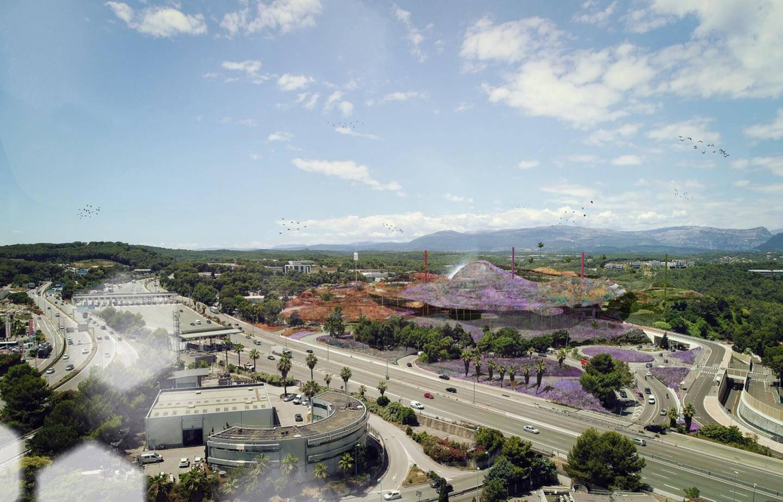 Signé par l'architecte Jean Nouvel, le projet marie 27.000 m² d'espaces végétalisés avec 32.000 m² de bureaux, 7.000 m² d'hôtellerie, 1.200 m² de restauration et services.