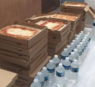 Les 50 pizzas offertes par Sentimi.