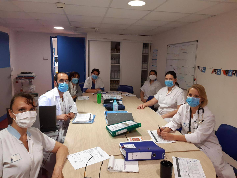 L'équipe de l'unité de soins palliatifs a dû s'adapter aux  mesures imposées par la crise sanitaire.