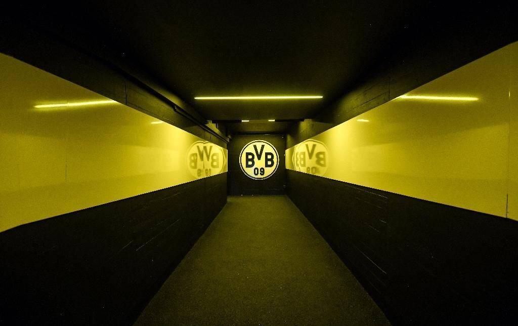 Le tunnel menant au terrain du  Signal Iduna Park de Dortmund le 5 mai 2020 à Dortmund