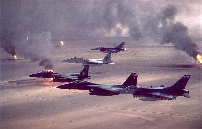 L'opération ''Tempête du Déser'' durant la Guerre du Golfe, en 1991.