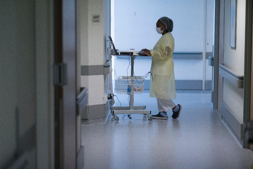 Dans le service de rééducation de l'hôpital Emile Muller à Mulhouse le 29 avril 2020