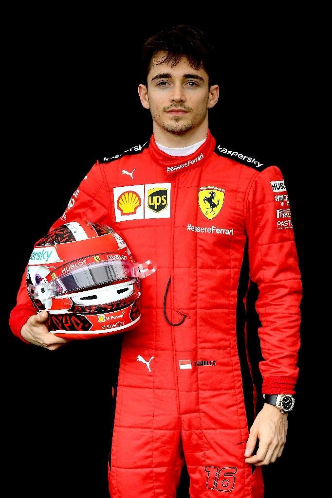 Le pilote monégasque Charles Leclerc, qui fait figure de futur pilote N.1 chez Ferrari aorès l'annonce du départ de Sebastian Vettel en fin de saison, sur le circuit Albert Park le 12 mars 2020 à Melbourne