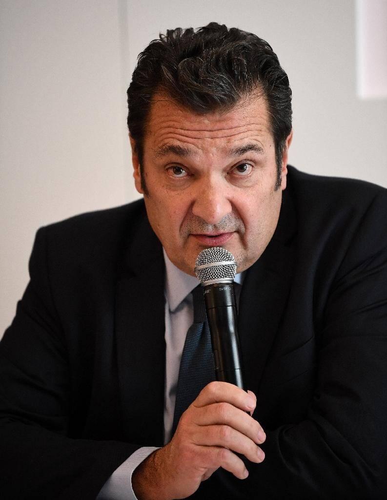 Le directeur général exécutif de la LFP Didier Quillot lors d'une conférence de presse le 11 mars 2020