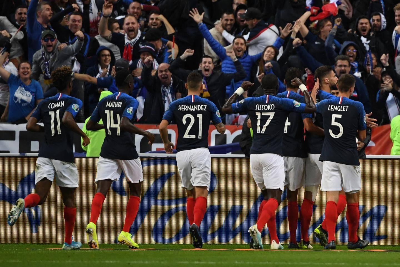 L'équipe de France lors de sa victoire contre la Turquie le 14 octobre 2019.