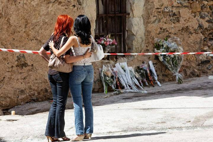 Hommage et forte émotion à Collobrières, sur les lieux du drame.