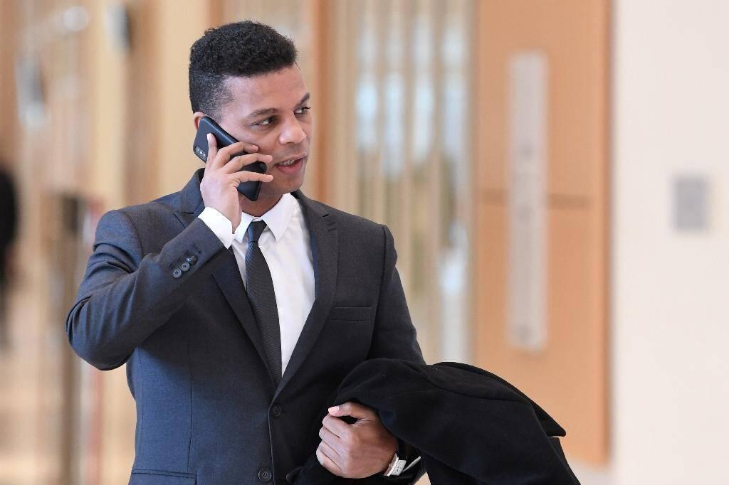 Yassine Bouzrou, l'avocat de la famille Traoré, le 3 mars 2020 au tribunal de Paris