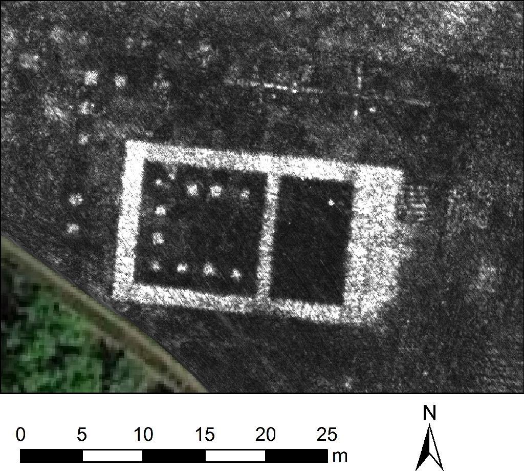 Photo non datée diffusée l 4 juin 2020 par l'Université de Cambridge montre une cartographie réalisée avec un radar à pénétration de sol (GPR) de l'ancienne cité romaine Falerii Novi, près de Rome