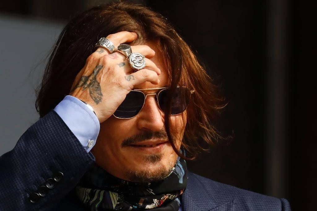Johnny Depp devant le tribunal à Londres le 24 juillet où il poursuit le tabloïd le Sun
