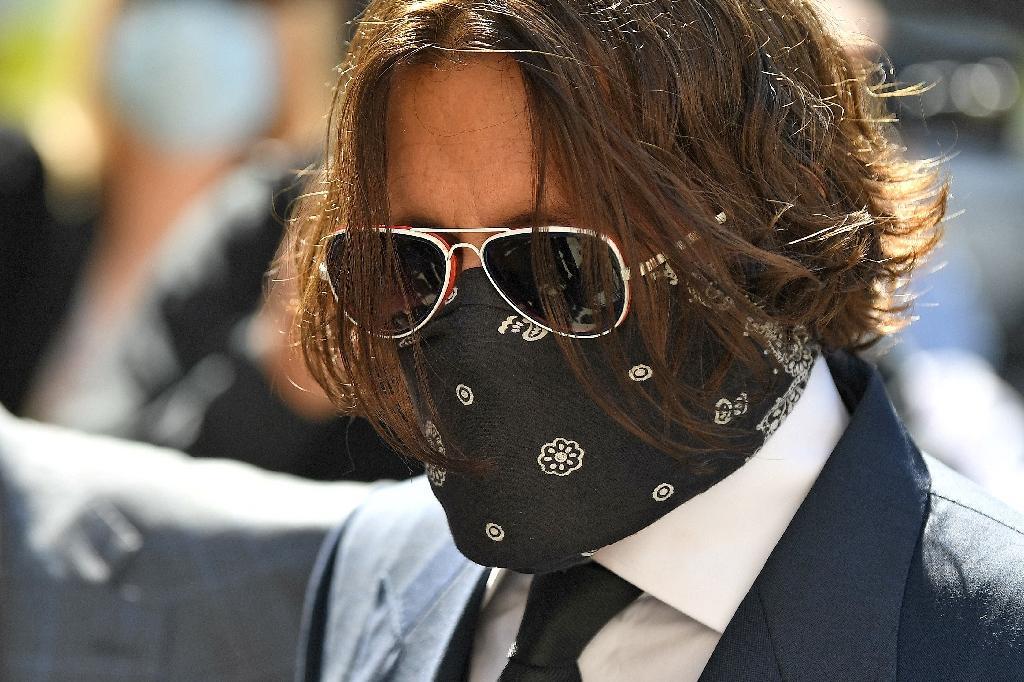 L'acteur Johnny Depp, arrive au tribunal à Londres, le 7 juillet  2020