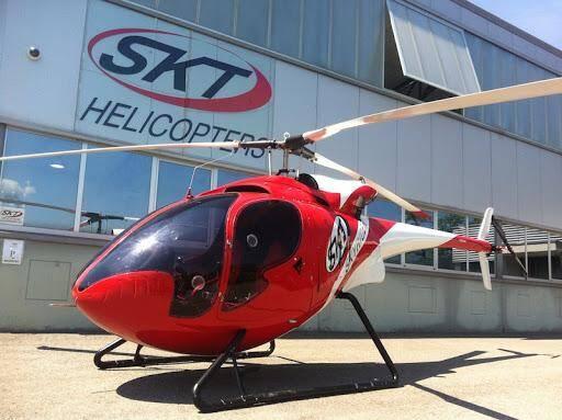 Le projet repose sur la structure d'un hélicoptère fabriqué par la marque suisse SKT.