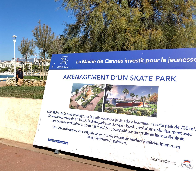 Le projet de skatepark de la municipalité.