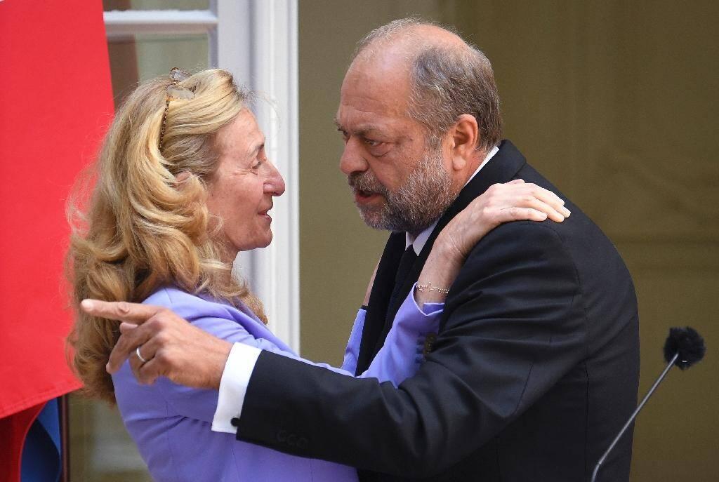Passation des pouvoirs entre Nicole Belloulet et Eric Dupond-Moretti le 7 juillet 2020 à la Chancellerie