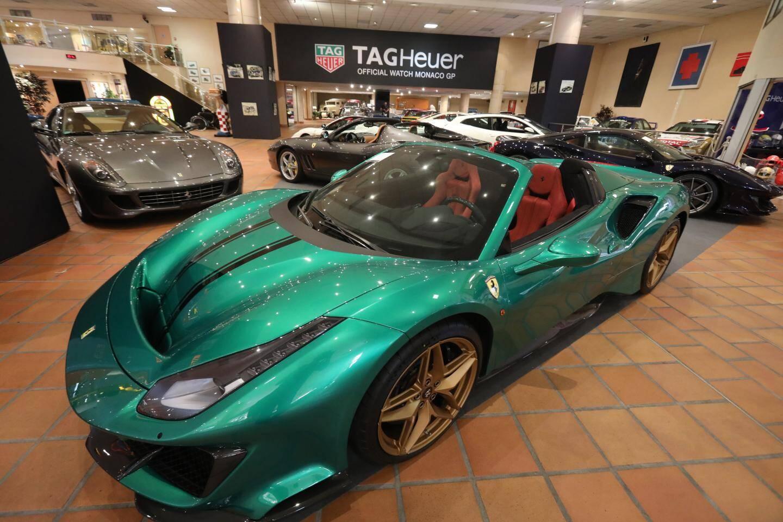 La Ferrari 488 Pista Spider (2019) exposée à la Collection du Prince et estimée 500.000 - 600.000 euros.