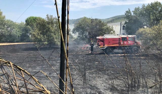 La surface parcourue par l'incendie est de l'ordre de 2 à 3 hectares.