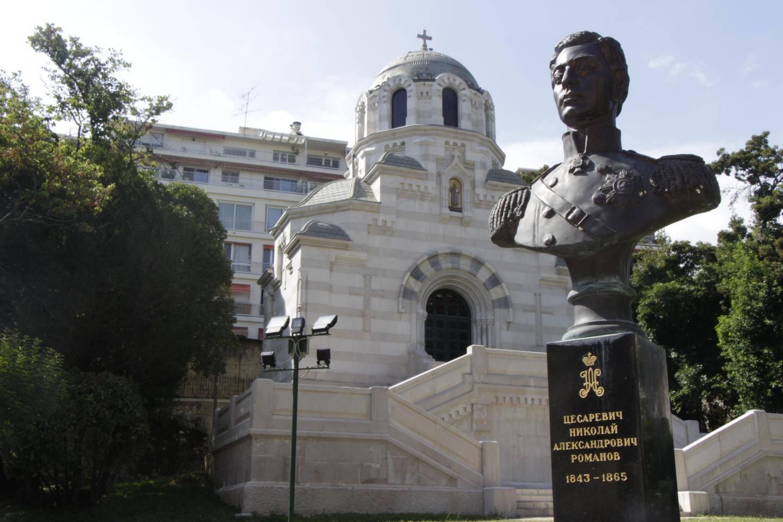 La présence du Tsarévitch rappelle que la cathédrale reste debout depuis le XIXe siècle.