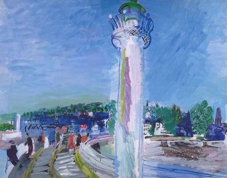 Quand il était à Honfleur, le phare a été immortalisé par Raoul Dufy - aussi venu peindre à Menton.