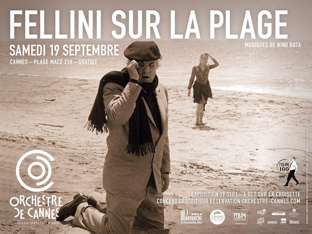 Fellini sera à l'honneur grâce à l'orchestre et à la ville de Cannes.