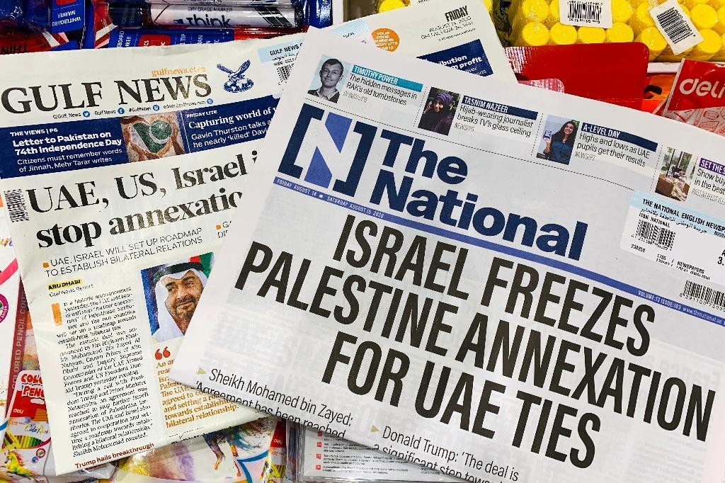 Les Unes de journaux émiratis, le 14 août 2020