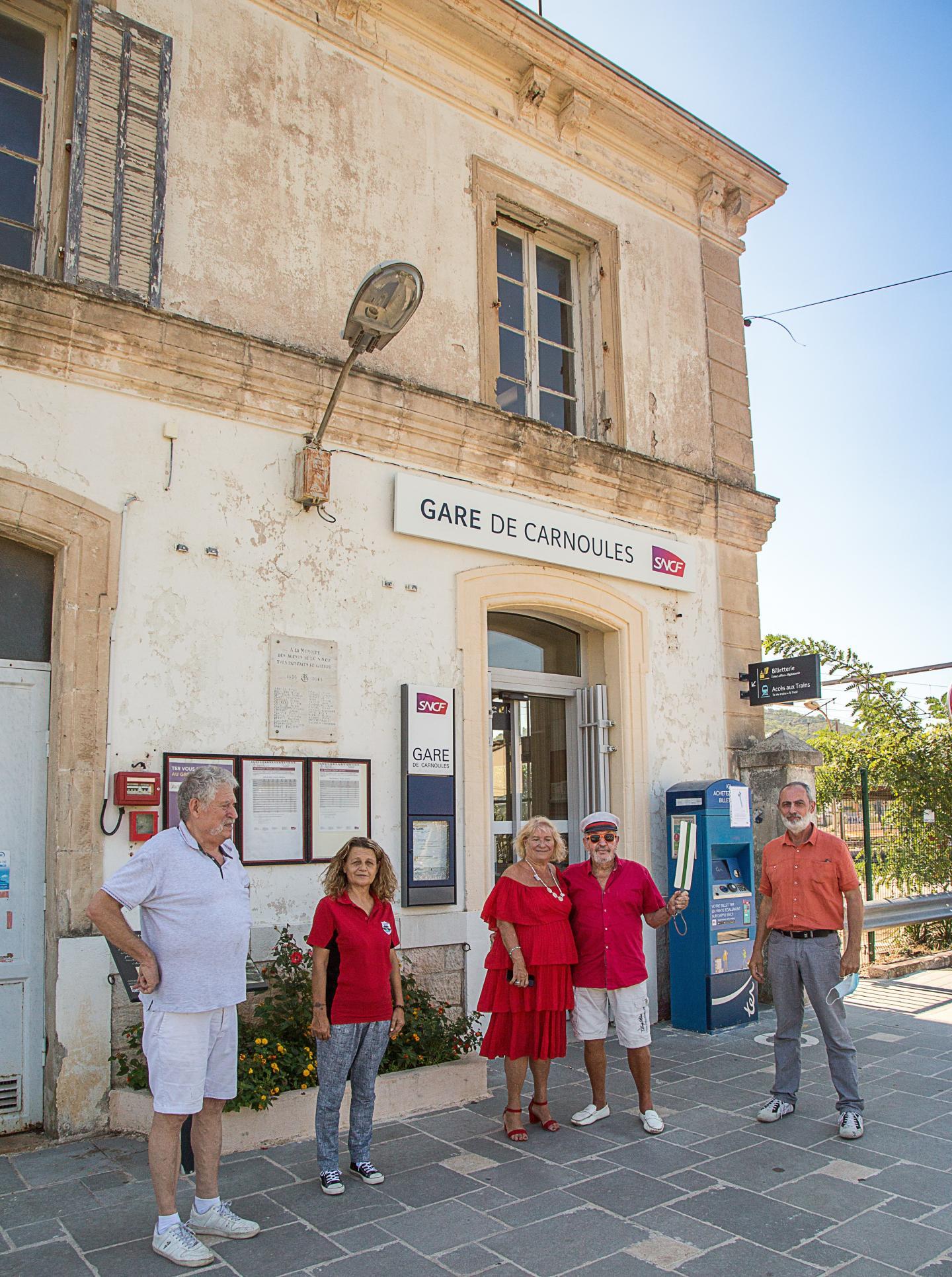 L'équipe du Musée du train miniature a reçu Christian David, le maire (ci-contre à droite), pour parler des espoirs d'essor.