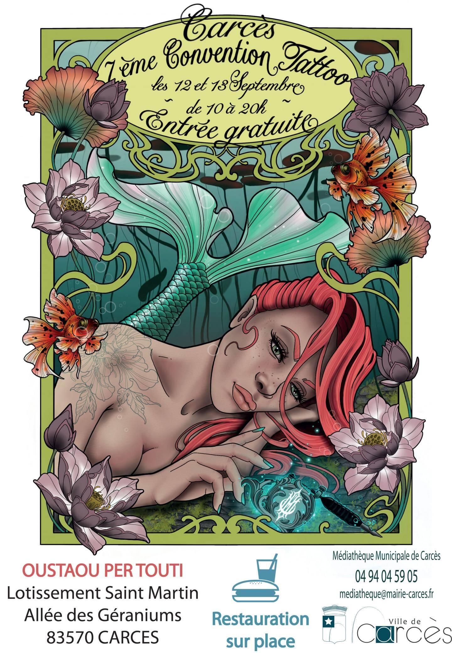 L'affiche de la convention Tatoo à Carcès