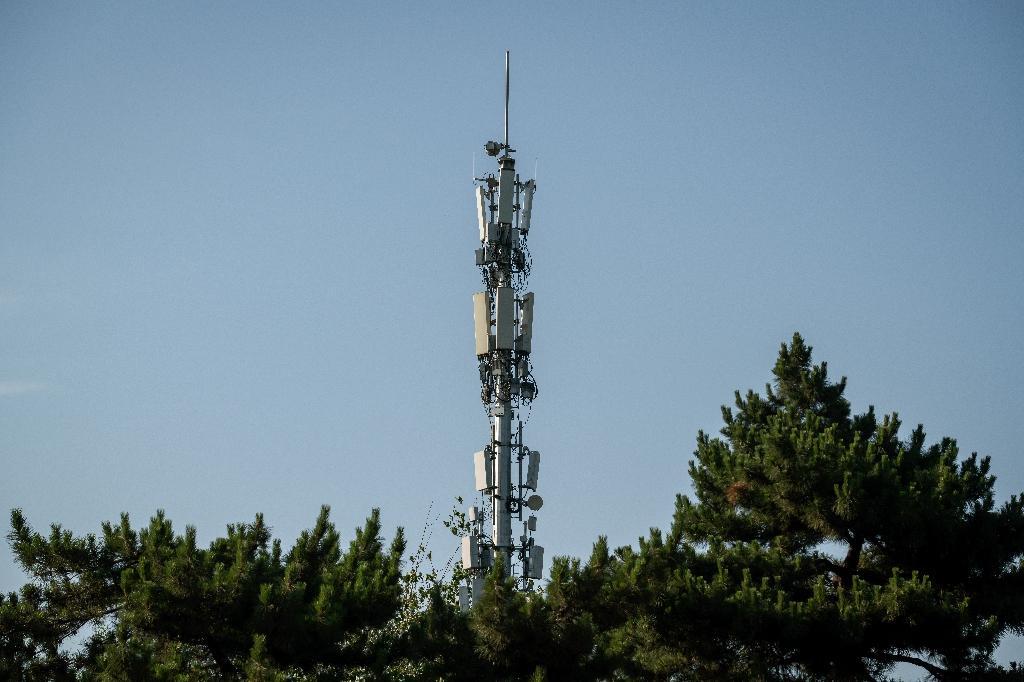 Une antenne utilisée pour le réseau 5G, à Pékin le 19 mai 2020