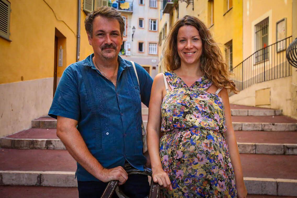 Les comédiens Frédéric Rey et Rowena Cociuban, mariés à la ville comme sur la scène.