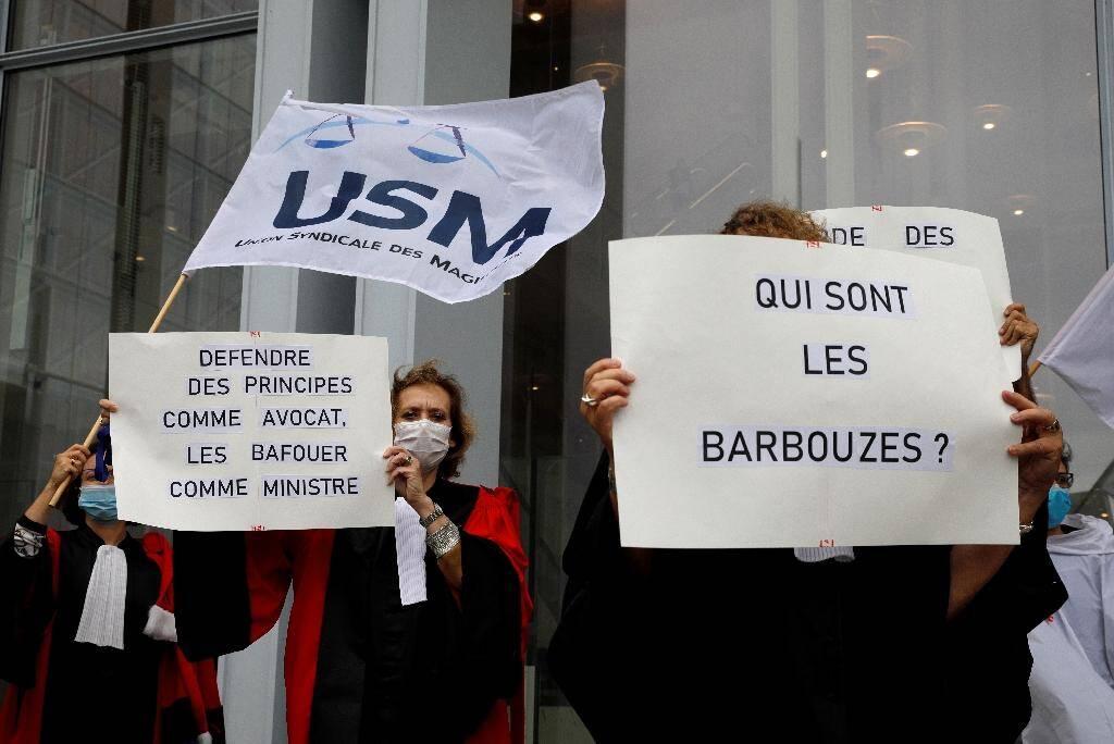 Manifestation de magistrats contre le ministre de la Justice Eric Dupond-Moretti, le 24 septembre 2020 à Paris