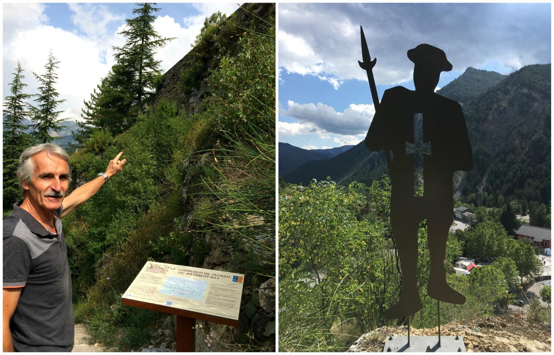 Bernard Graille a eu l'idée de silhouettes pour jalonner le sentier vers le château. Ce sentier des silhouettes sera inauguré dimanche 20 septembre, à l'occasion des Journées du Patrimoine.