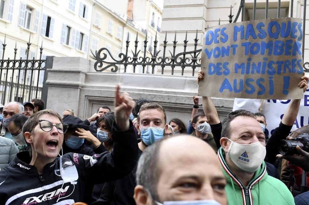 Manifestation de propriétaires de bars et de restaurants à Marseille, le 25 septembre 2020