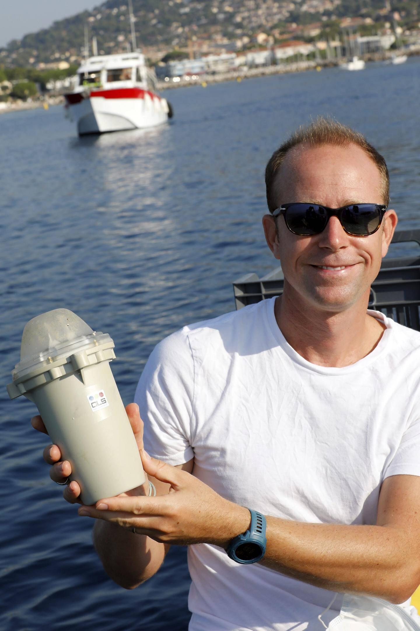 Carqueiranne Démonstration d'un système de pêche par satellite