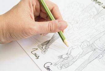 Avec ou sans dessin, les petits cadres sont personnalisables à souhait.